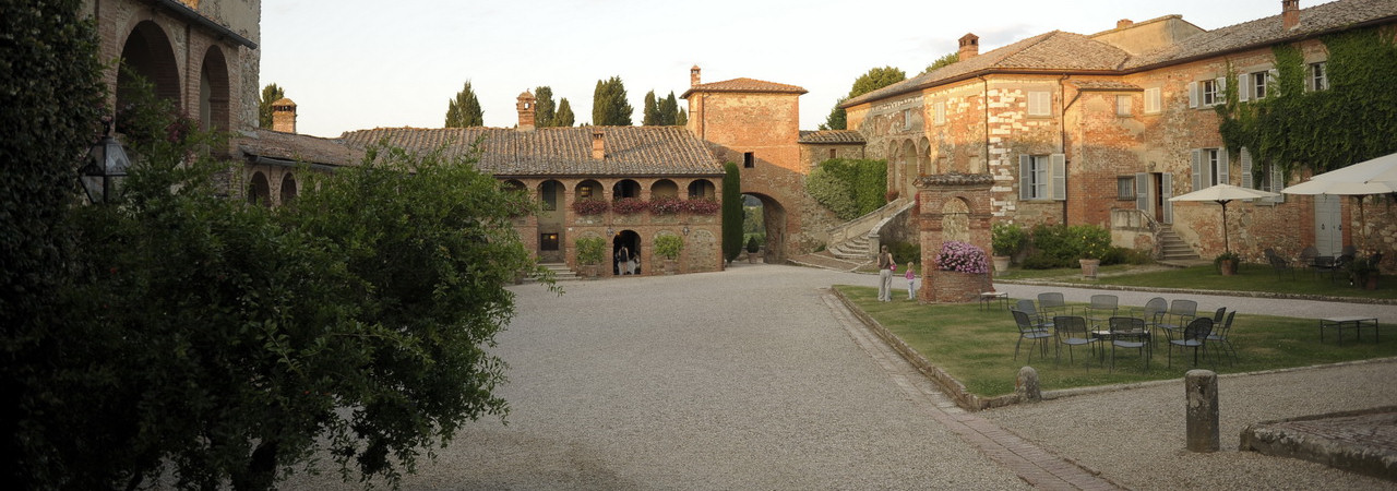 Intimacy in a medieval hamlet in the Chianti Hills of Tuscany